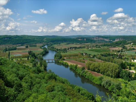 Dordogne River Valley in France