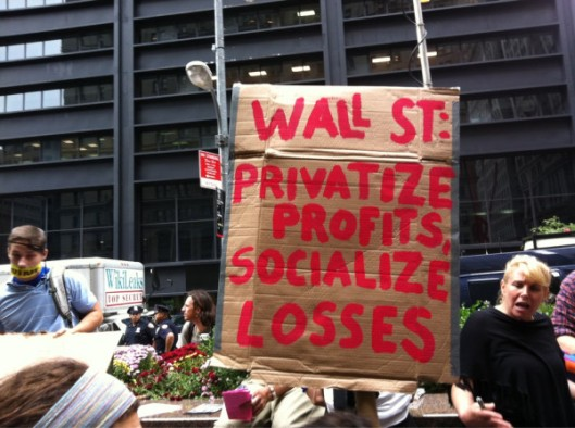 Occupy Wall Street sign